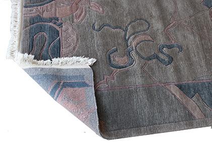 exemplarischer, asiatischer Teppichboden