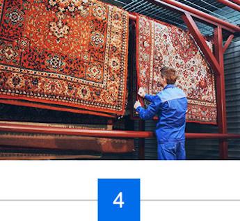 Kontrolle vor der Auslieferung des Teppichs