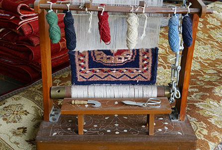 Traditioneller Teppichwebstuhl