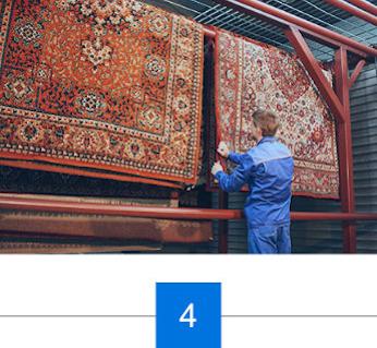 Prüfung der Teppiche nach der Reinigung