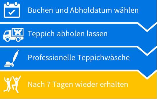 Teppichreinigungsprozess in Mainz