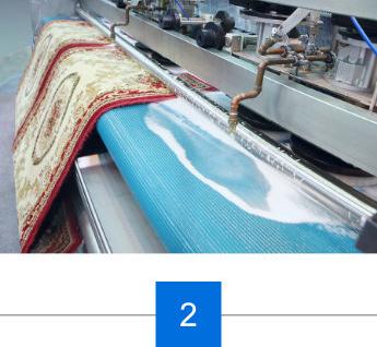 Teppich in Teppichwaschanlage