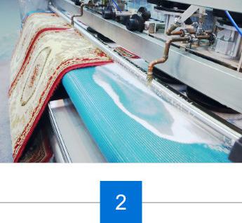 Teppich in unsere Waschanlage spuelen