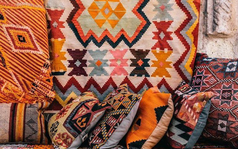 Knüpfmuster bei Teppichen