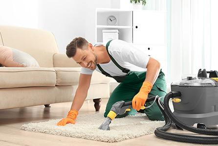 Teppichwäsche mit Profigerät für zu Hause
