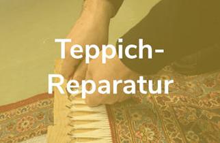Teppichreparateur beim Erneuern der Fransen