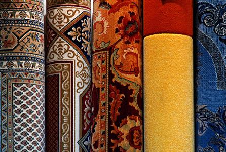 Fuenf verschiedene Teppichearten